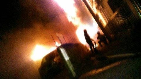 尼崎市久々知で火事 マンションの7階付近から出火  …
