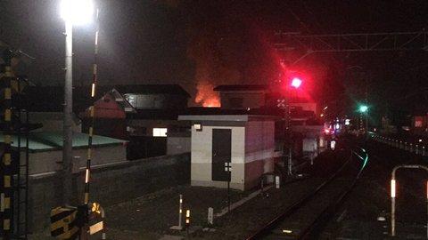 【火事】上松川駅近く…