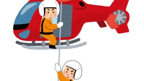 落下 動画 ヘリ 救助