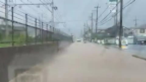 【冠水】滋賀県大津市…