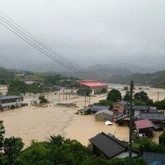 豪雨被害画像】愛媛県宇和島市で...